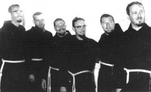 First Capuchins to Mendi: Fr Berard, Br Mark, Fr Paul, Fr Henry, Fr Stanley, Fr Otmar