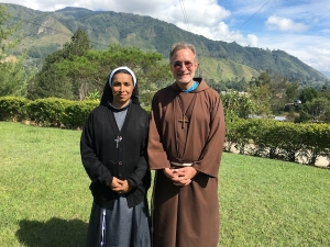 New missionary, Sr Rosy, on her first full day in Mendi.
